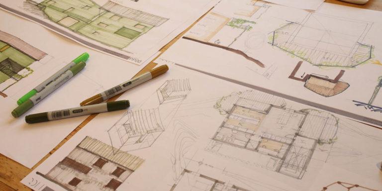 tavolo da disegno schizzo malaguti architettura